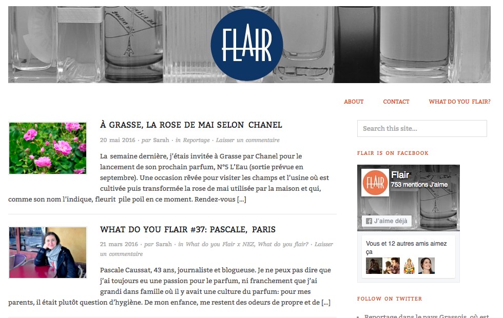 What do you flair, les portraits olfactifs par Sarah Bouasse