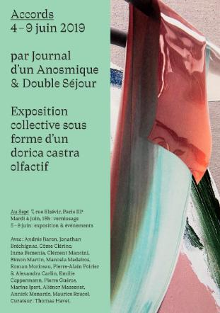 Accords, le dorica castra olfactif par Double Séjour et Journal d'un Anosmique