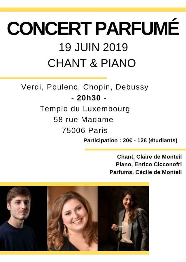 Concert parfumé : chant, piano et… accords olfactifs