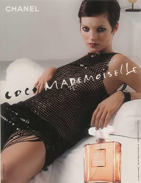 Publicité Coco Mademoiselle - Kate Moss